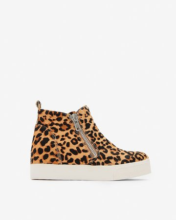 Steve Madden Animal Print Wedgie Sneakers