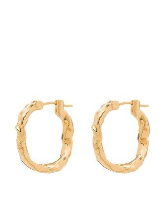 Joanna Laura Constantine Hammered Style Hoop Earrings - Farfetch