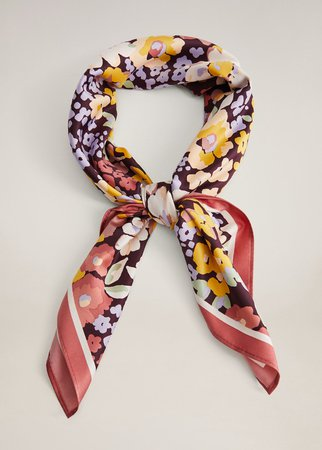 Flowers printed scarf - Women | Mango USA