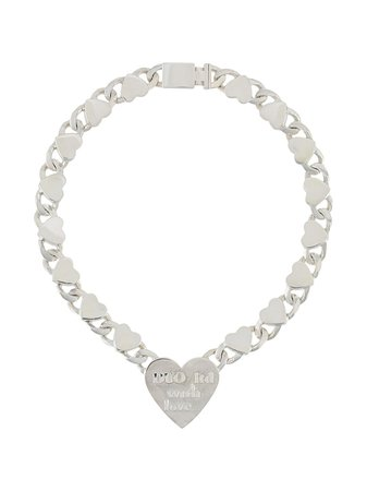 Shop Natasha Zinko Hearts chain necklace with Express Delivery - FARFETCH