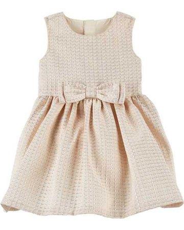 Baby Girl Jacquard Bow Holiday Dress   Carters.com