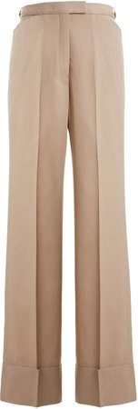Wool-Blend Straight-Leg Trousers