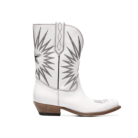 JESSICABUURMAN – MAKIX Embroidery Leather Western Cowboy Ankle Boots
