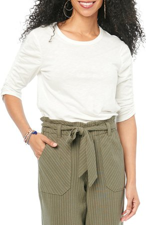 Ruched Puff Sleeve T-Shirt