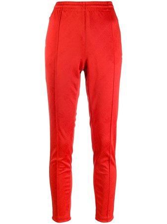 Red Adidas Side Stripe Track Pants | Farfetch.com