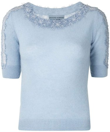 Boat Neck Knitted Top