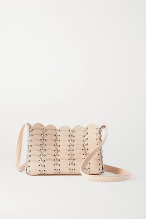Leather Shoulder Bag - Cream