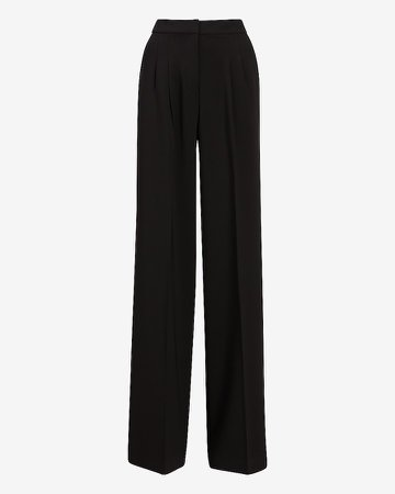 High Waisted Pleated Trouser Pant