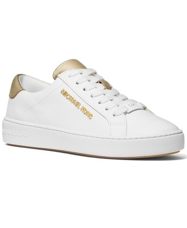 White Michael Kors Iona Lace-Up Sneakers & Reviews - Athletic Shoes & Sneakers - Shoes - Macy's