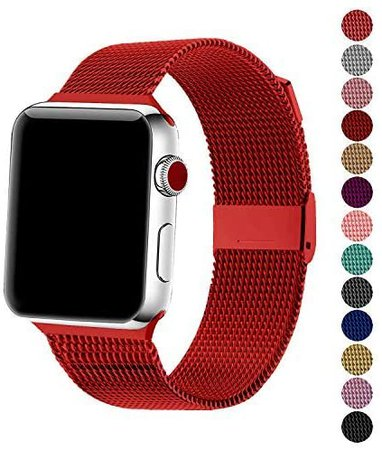 Amazon.com: SexHope Compatible for Apple Watch Band 38mm 42mm 40mm 44mm Series 5 4 3 2 1 (Silver, 38mm/40mm)
