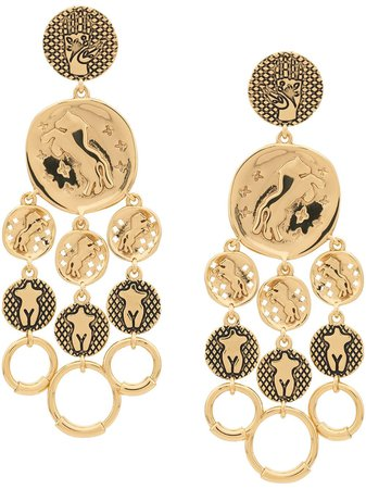 Gold Chloé Emoji Drop Earrings   Farfetch.com