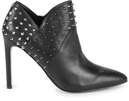 Wally Studded Leather Stiletto Booties
