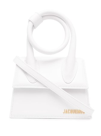 Shop white Jacquemus Le Chiquito Noeud tote bag with Express Delivery - Farfetch