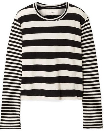 Striped Cotton-jersey Top - Ivory