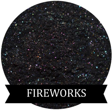 FIREWORKS Black eyeshadow with multi colored Shimmer | Etsy