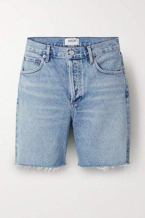 Agolde AGOLDE - Rumi Frayed Denim Shorts - Blue