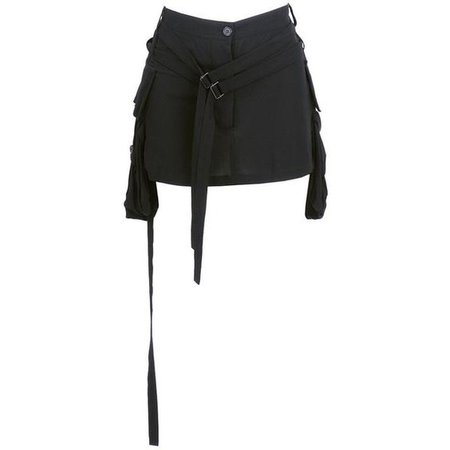 Vintage DEMEULEMEESTER 90s Double-Belted Mini Skirt