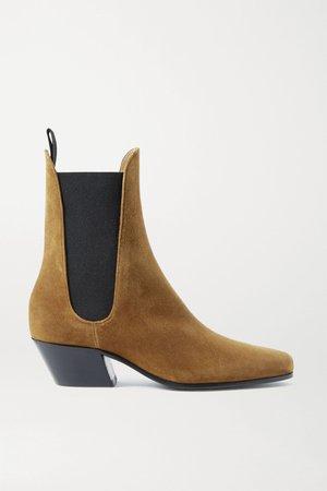 Tan Saratoga suede ankle boots | Khaite | NET-A-PORTER