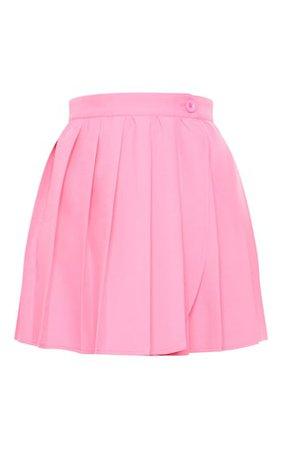 Pink Woven Skater Skirt | Skirts And Shorts | PrettyLittleThing
