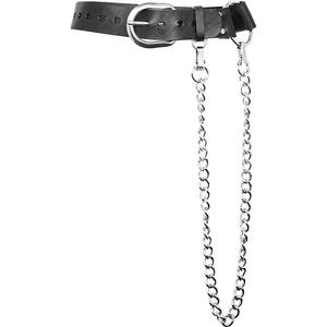Zana Bayne Ludlow leather and chain belt PNG
