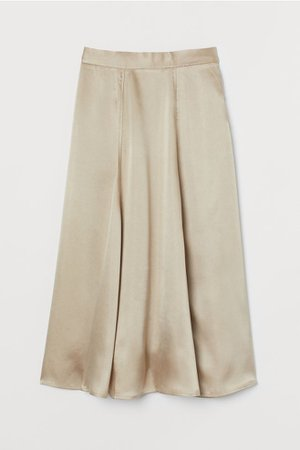 Satin Skirt - Beige - Ladies | H&M US