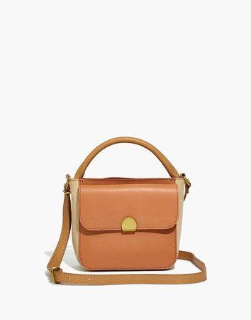 The Mini Abroad Crossbody Bag: Colorblock Edition beige