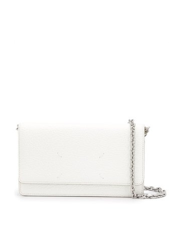 Maison Margiela Chain Shoulder Wallet S56UI0147P0399 White | Farfetch