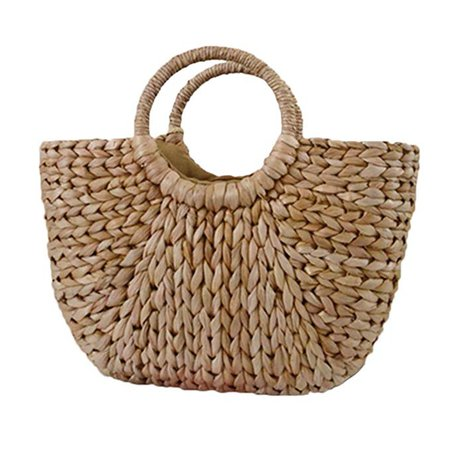 Amazon.com: Straw Handbag,SHZONS Ark Bag Tote Purse Straw Beach Summer Bag Half Moon Bag Sling Crossbody Bag for Women: Gateway