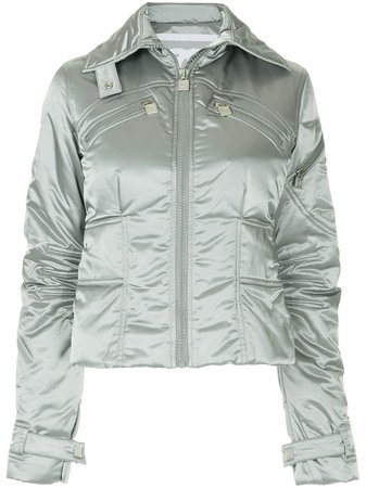 Chanel Pre-Owned Metallic Padded Jacket - Farfetch