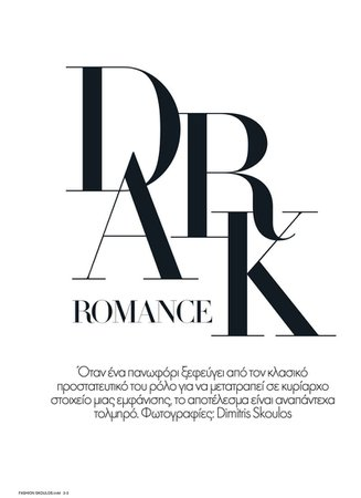 Dark Romance Vogue article