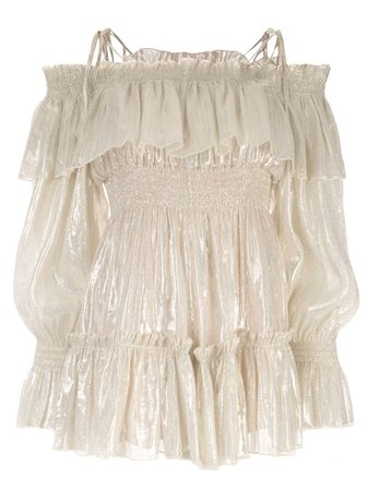 Alice Mccall Champers Off-The-Shoulder Playsuit   Farfetch.com