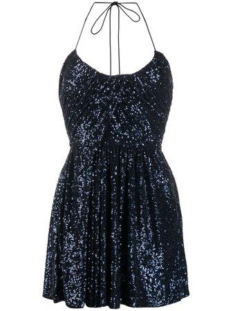Saint Laurent Sequinned Mini Dress - Farfetch