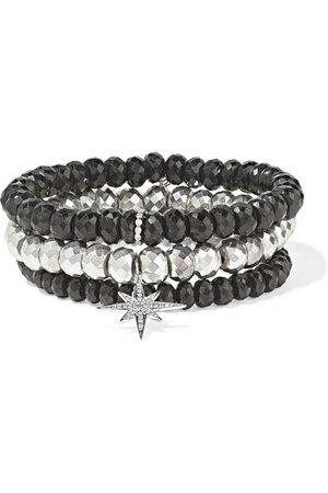 Sydney Evan | Set of three multi-stone bracelets | NET-A-PORTER.COM