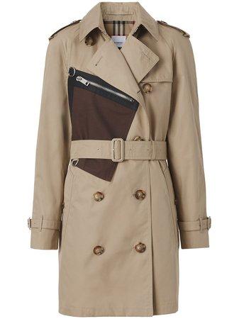 Burberry pocket-detail technical gabardine trench coat - FARFETCH