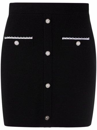 Maje embellished-button Skirt
