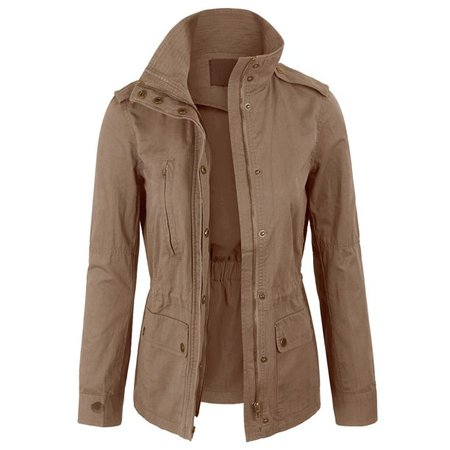 KOGMO - KOGMO Womens Zip Up Military Anorak Safari Jacket Coat - Walmart.com - Walmart.com