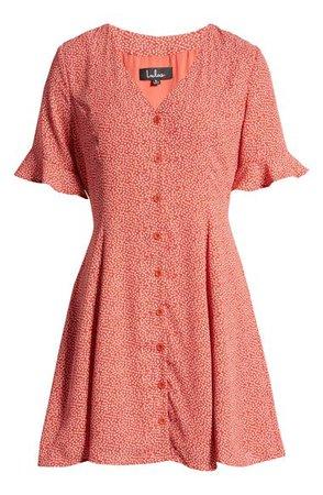 Lulus Castana Button A-Line Dress | Nordstrom