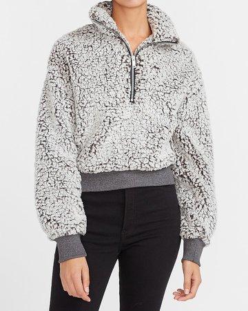 Sherpa Quarter Zip Sweatshirt
