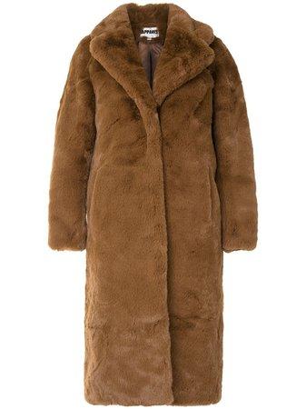 Apparis Siena long faux-fur coat - FARFETCH