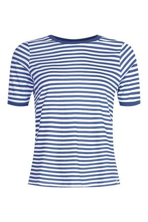 Stripe Ringer t shirt   boohoo
