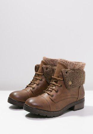 Cool way warm brown booties