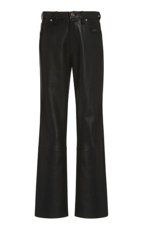 Leather High-Rise Bootcut Pants By Goldsign | Moda Operandi