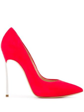 Red Casadei Blade Stiletto Pumps | Farfetch.com