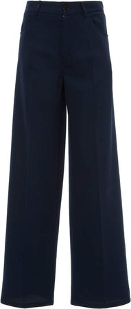 Murphy Cotton Silk Straight-Leg Trouser