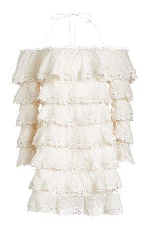 Lace Tiered Mini Dress Gr. 2