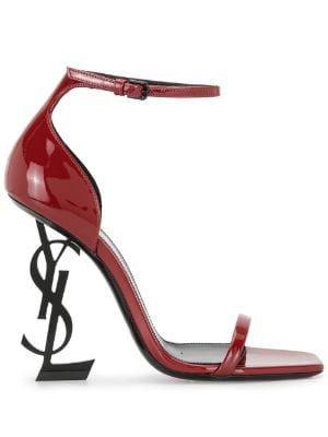 Saint Laurent red sandals Farfetch