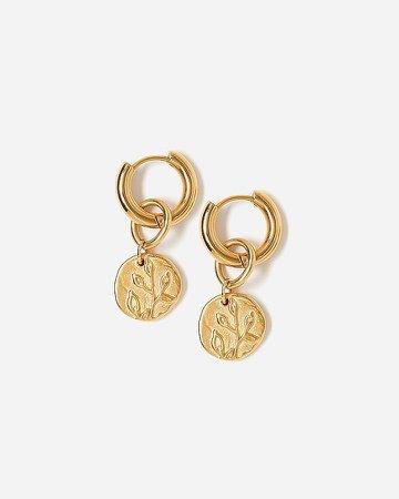 Tess + Tricia Bloom Peony Hoop Earrings