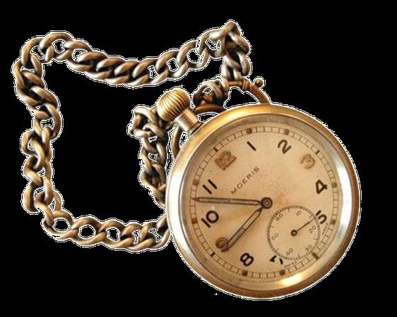 Vintage Bronze Pocket Watch png