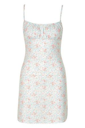 Ditsy Floral Square Neck Swing Dress | boohoo