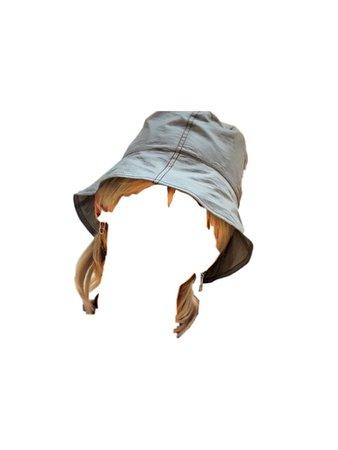 Blonde Hair Bucket Hat PNG @6IX-D-OFFICIAL